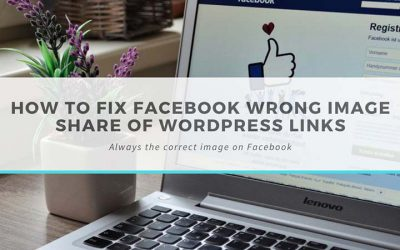 How to fix Facebook wrong image share of WordPress links