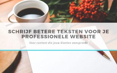 Schrijf betere teksten voor je website