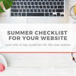summer checklist website