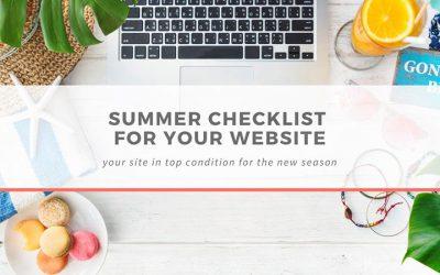 Summer checklist for your website