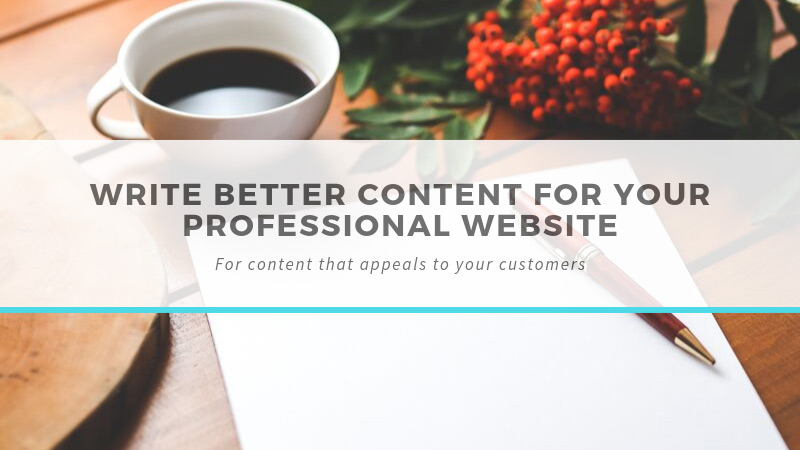 Write better content for your website